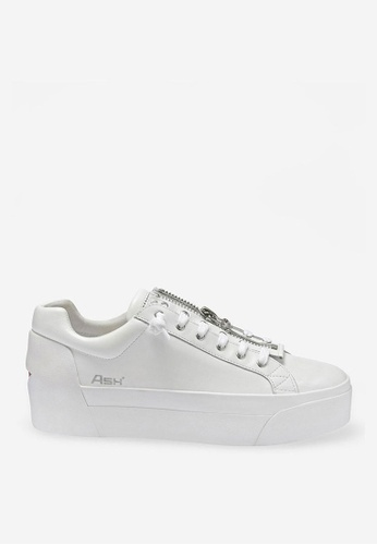 ASH 白色 Buzz - 拉鍊運動鞋 CBDD6SHCADA3A8GS_1