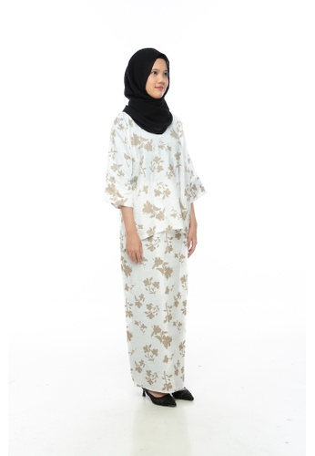 Lagendas white and brown Hana Kurung Kedah 56EB4AA2FA964DGS_1