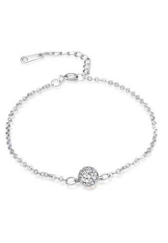 Vivere Rosse silver Dazzling Sphere Bracelet VI014AC40TATMY_1