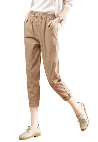 A-IN GIRLS beige Elastic Waist Trousers 0FDACAAB64DBC2GS_1