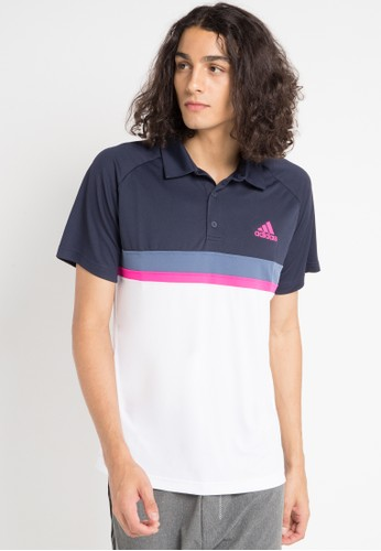 adidas multi adidas colorblock club polo shirt 20E69AAAB2AF5BGS_1