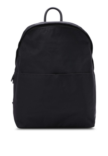 NUVEAU black Minimalist Oxford Backpack NU245AC0S0G7MY_1