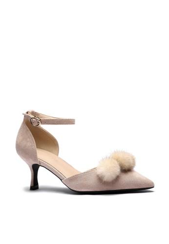 Twenty Eight Shoes Fur Ball Strap Heel Pumps 165-31 B2F7DSH304FC57GS_1