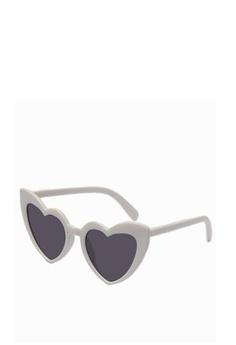 72259056c20 Kallisto white Heart Sunglasses 74B24GL0D68B17GS 1