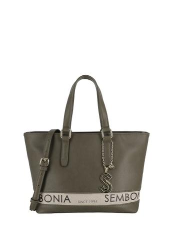 SEMBONIA green Short Handle Tote Bag 229FAACDA08BFCGS_1