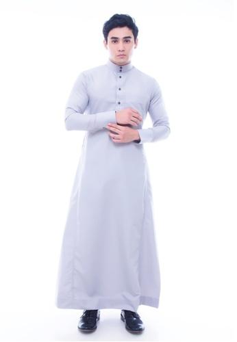 Amar Amran grey Jubah A Slim Fit AM362AA52JDRMY_1