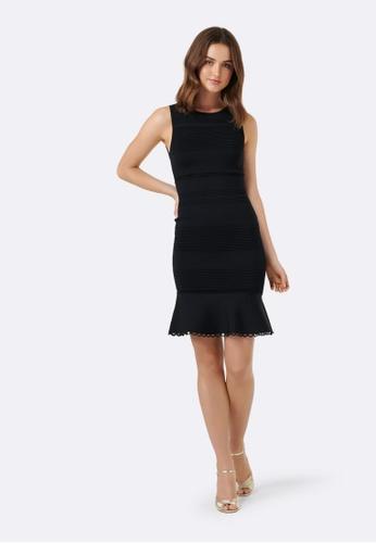 Forever New black Lola Pointelle Peplum Dress 8B8C8AAC866640GS_1