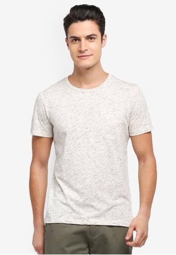 Selected Homme 灰色 短袖混色T恤 34CBDAA3D90F89GS_1