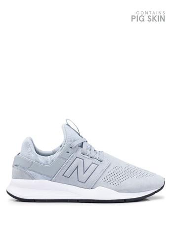 New Balance grey 247 Lifestyle Suede Shoes 84826SH96A144DGS_1
