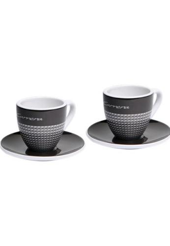 Porsche Driver's Selection Black Espresso Cups Porsche 911 Carrera Collection Coffee Cup Set Two Pair White A5C0DHLB0A265CGS_1