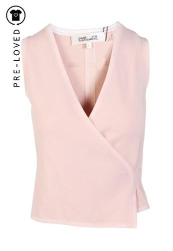 Diane Von Furstenberg pink Pre-Loved diane von furstenberg Baby Pink Heart-Shirt E5796AA9963A69GS_1