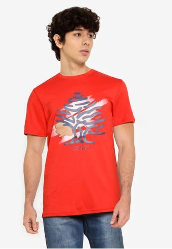 Springfield red Tree Logo T-Shirt 6059CAADDA7EDBGS_1