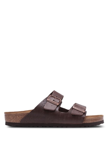 Birkenstock brown Arizona Hailstorm Sandals BI090SH0RTJ7MY_1