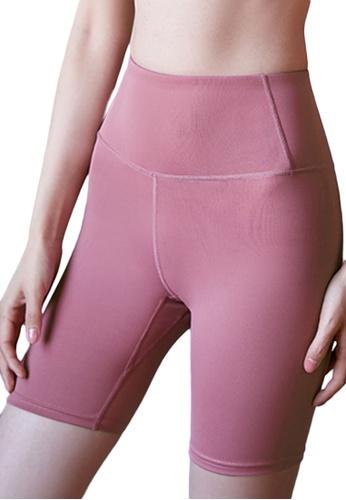 Sunnydaysweety pink High Waist Stretch Bike Shorts A081023PI 036ECAA1596424GS_1