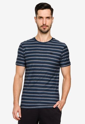 BLEND black Striped Crew Neck T-Shirt 9CF06AA0ED7CADGS_1