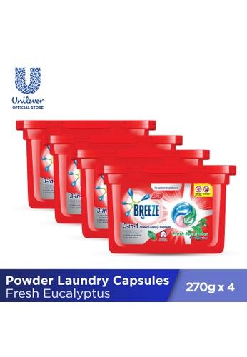 Breeze Breeze Fresh Eucalyptus 3-in-1  Power Laundry Capsules 270g (18 pcs x 4 boxes) 30887ES5CF182BGS_1