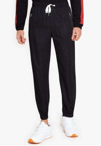ZALORA BASICS black Front Zip Hem Pants B7292AA97A3D97GS_1