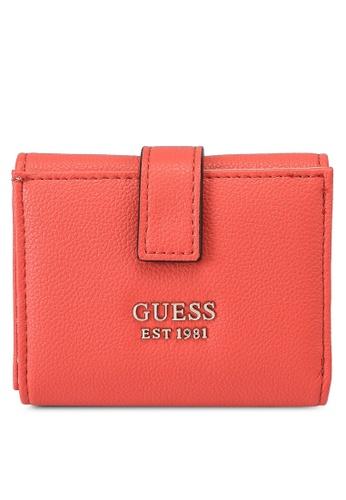 Guess orange Little Paris Petite Trifold Wallet FAB22AC069B927GS_1
