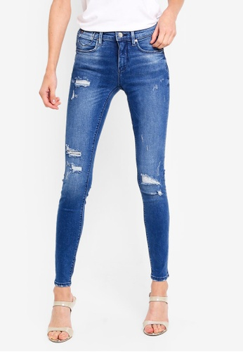 ONLY blue Carmen Skinny Jeans 40E3CAABC77ABAGS_1