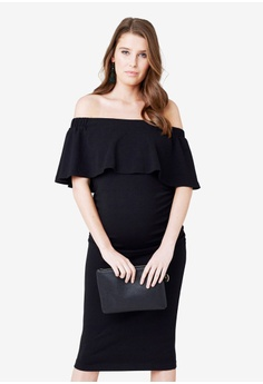 6ddd1788ae Ripe Maternity black Maternity Soiree Off Shoulder Dress 68B6AAA46999EAGS 1