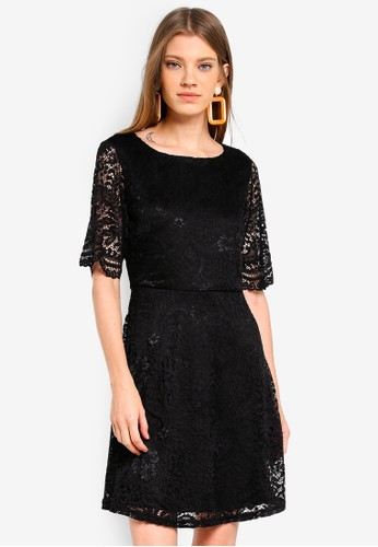 JACQUELINE DE YONG black Paris Lace Dress 86DB4AAB0CC8BFGS_1