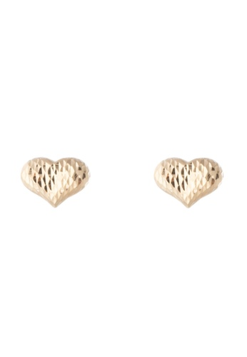 Lavaliere Jewelry Shop gold Mirrored Heart Earrings LA066AC57ZHQPH_1