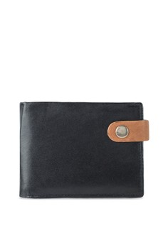 Contrast Snap Popper Wallet
