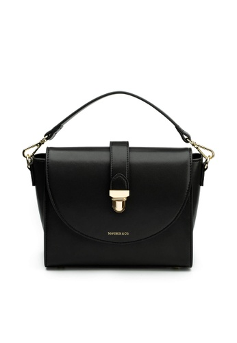 Maverick & Co. black Maverick & Co. Athena Lustre Crossbody Bag (Night Black) 53524ACD1BBF09GS_1