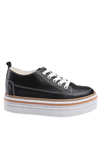 Twenty Eight Shoes black Top Layer Calf Platform Shoes VC8882 F3499SHAE3A9B6GS_1