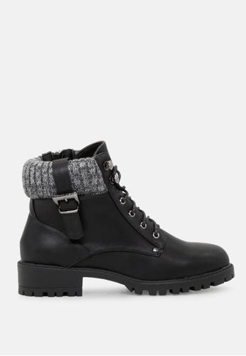 London Rag 黑色 羊毛领短靴 SH1720 24791SHD14092BGS_1