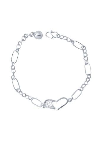 Elfi silver Elfi Genuine 925 Silver Love Link Bracelet SB-12M EL186AC76GNNMY_1