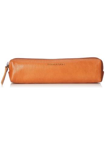 ENZODESIGN brown ENZODESIGN Deluxe Italian Leather Zip Top Mini Pen Case ACFD1AC797AD19GS_1