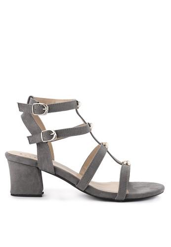 Totally grey Bastille Chunky Heels 2 06A96SH31C509DGS_1