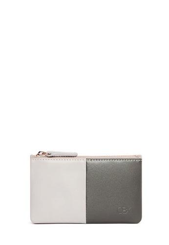 OBX multi Dark Grey/Gull Grey Leather Card Purse A7AE3ACF3257FFGS_1