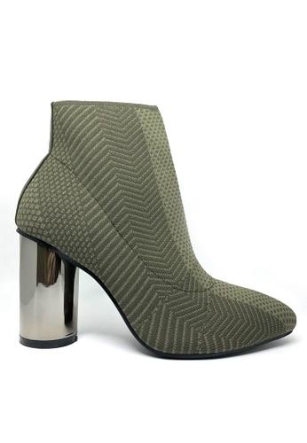 Twenty Eight Shoes green Socking Metallic High Heel Boots 866 4487ESHF7C52FFGS_1