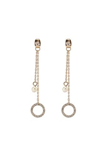 Call It Spring gold Selilla Pierced Earrings 08A44ACE9902E2GS_1