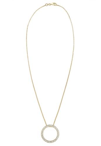 Elli Germany gold Elli Germany Necklace Gold Plated 925 Sterling Silver Circle Swarovski Crystal DEA02AC6CAF3D9GS_1