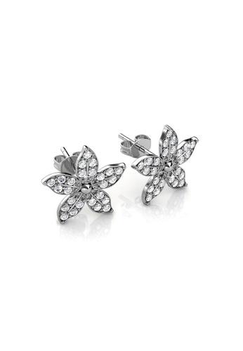 Her Jewellery silver Swarovski® Crystals - Bloom Earrings (18K White Gold Plated) Her Jewellery HE581AC0R9U3MY_1