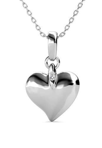 Her Jewellery silver Peach Love Pendant (White Gold) -  Embellished with Crystals from Swarovski® A4D4AAC80ACD29GS_1