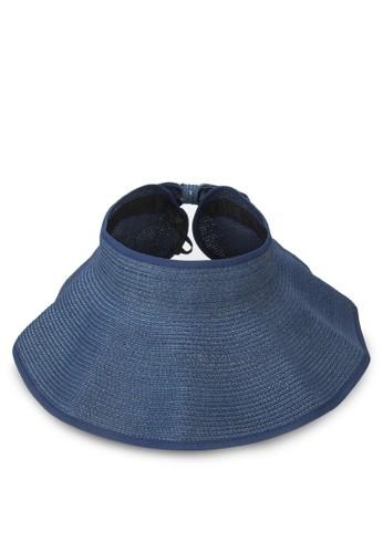 經典可卷折疊蝴蝶結esprit服飾草帽, 飾品配件, 爵士帽