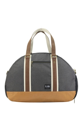 G.ride black and beige Baya Weekend Bag GR478AC0GKTDSG_1