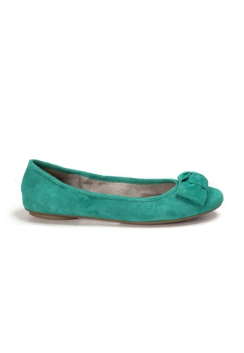 Shu Talk green AMAZTEP NEW Comfy Sole Suede Leather BOW Ballerina Ballet Flats 80F79SH5216A8EGS_1