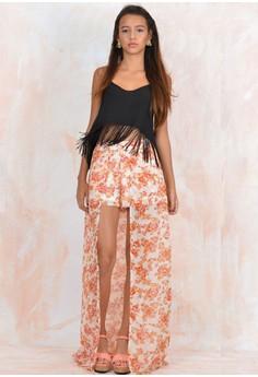 Miranda Shorts with Maxi Skirt