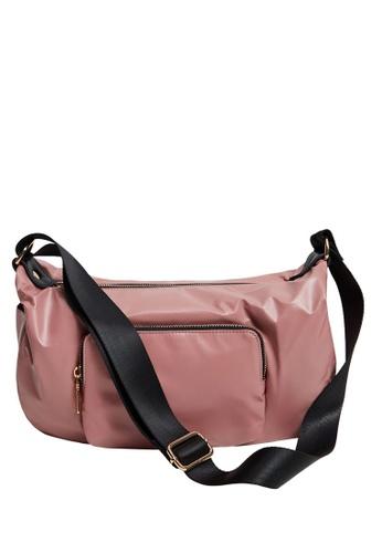 Violeta by MANGO pink Zipper Crossbody Bag 87824ACB440BF7GS_1