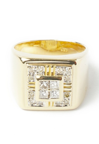 CEBUANA LHUILLIER JEWELRY gold 14 Karat Yellow Gold Ring With Diamonds F999FAC3C4FF09GS_1