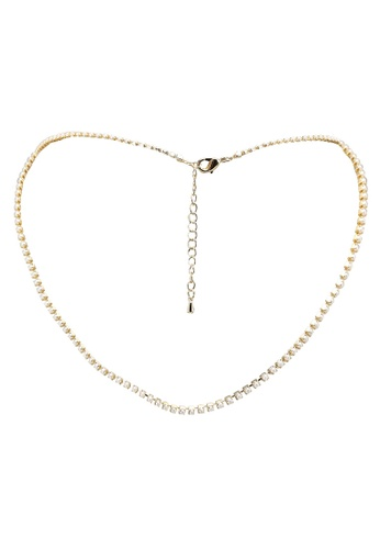 GLOBAL WORK white Pearl Chain Necklace 52B35AC337EC78GS_1