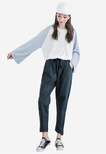 Sesura green Everyday Comfort Cotton Pants 2BC73AA7C44649GS_1