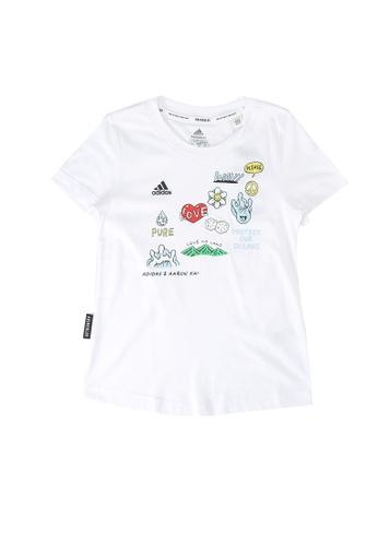 ADIDAS white aaron kai x graphic t-shirt C17D6KA42D145AGS_1
