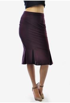 Verene Below Knee Knife Pleated Skirt