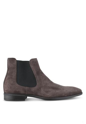 KG Kurt Geiger grey Frederick Grey Suede Boots KG303SH0SCLEMY_1